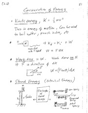 10 Conservation of Energy