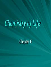 Health sciences-Chemistry of life