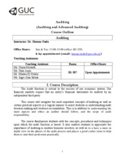 GUC-Auditing Outline