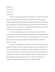 3 Paragraph Hoover Letter