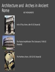 03.02 - Architecture and  Arches in Ancient Rome