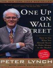 Peter Lynch - One Up On Wall Street (Complete)
