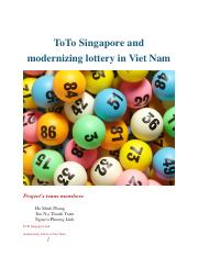 toto sing and modernizing lottery in vn