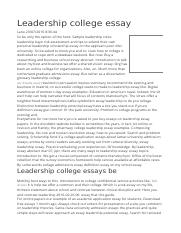 Writing A Personal Experience Essay  Most Prized Possession Essay also Poverty In Pakistan Essay Leadership College Essay The Characteristics Of Leadership  Essay Writing Forum
