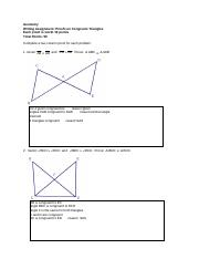 Geometry Proofs on Congruent Triangles