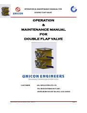 O&M Manual for Double Flap Valve.pdf