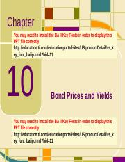 Chap10_Bond Prices and Yields.ppt