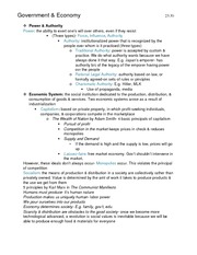 Government and Economy Book Notes