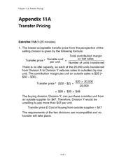 Chapter 11A - Solution Manual