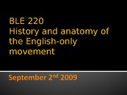 BLE 220 Wed Sept 2