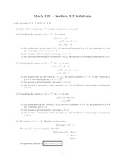 MATH 121 - Chapter 3 Linear and Quadratic Functions Homework Solutions
