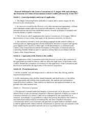 Geneva Conventions Additional Part I and II