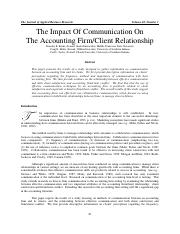 Koski-Impace of Comm on Acct Firm-Client Rel.pdf