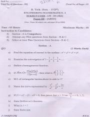 (www.entrance-exam.net)-PTU B.Tech Engineering Mathematics Sample Paper 3
