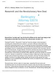 Roosevelt and the Revolutionary New Deal - AP U.S. History Sample Essays - Study Notes.pdf
