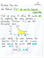 MATH 1110 Fall 2013 e and the Natural Logarithm Lecture Notes