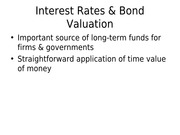 FINA 5311-3 Bond Prices and Interest Rates