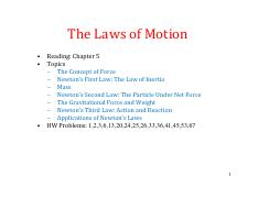 5 Laws of Motion