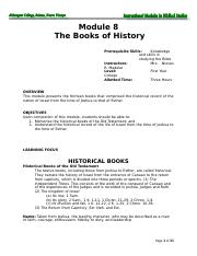 Module 8 The Books of History k.doc