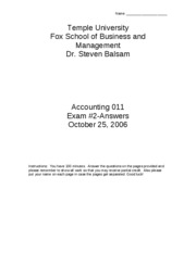 2006 Fall Accounting_011_exam_2__Fall_2006_answers