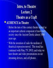 2 Craft of Theatre pwpt.ppt
