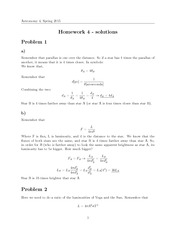 HW#4, Solutions