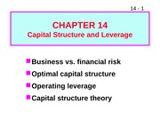 W12 ffm914 Capital Structure and Leverage