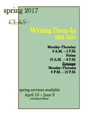 writing-drop-in-schedule