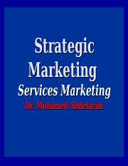 7- Services Marketing