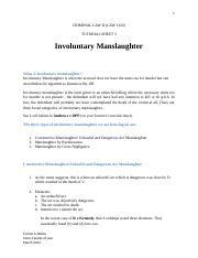 Involuntary manslaughter essay