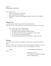 History 123 Study Guide-Test 1