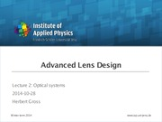 ALD02 - Optical systems