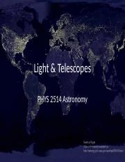 Chapter 3 Light and Telescopes