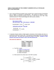 FIN417- Old Exam 2