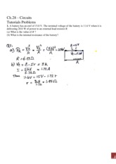 Ch28- problems and Solutions new