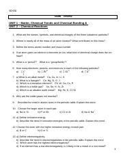 13152-37-examp3 - SCH3U Exam Review UNIT 1 Matter Chemical
