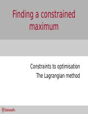 Week_13_Finding a constrained maximum