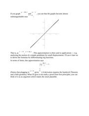 Derivatives of Trigonometry Functions Notes