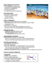 Chapter 7 - Cellular Membrane & Transport Notes