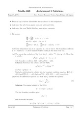 MATH 363 Fall 2006 Assignment 1 Solutions