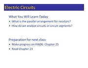 Class 072 - Parallel R Circuits
