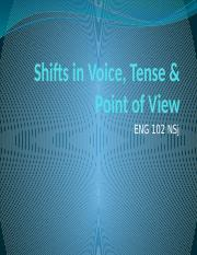 Shifts in Voice, Tense & Point of.pptx