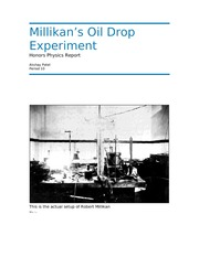 milikan oil drop experiment