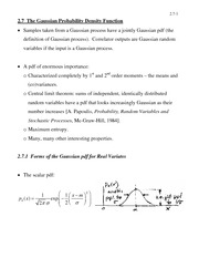 ECE 461 The Gaussian Probability Density Function Notes