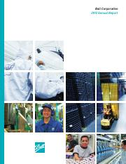 Ball Corporation 2012 Annual Report