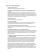 Young Goodman Brown Essay Outline