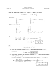 Review Sheet Exam 2 Solutions