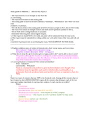 BIS 103 Study Guide