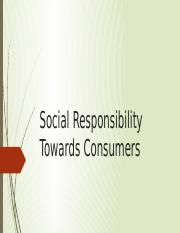 Social Responsibility Towards Consumers