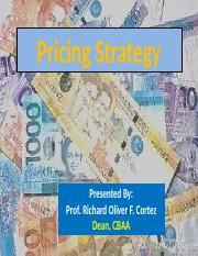 Lesson-Pricing Strategy